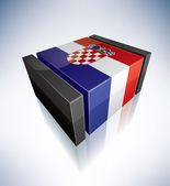 3D flag of Croatia — Stock Photo
