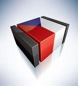 3D flag of Czech — Stock Photo
