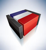 3D flag of French Republic — Stock Photo