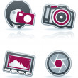 Royalty-Free Stock Photo: Photography Icons Set