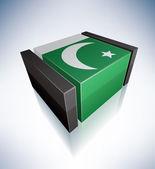 3d bandeira do paquistão — Vetor de Stock