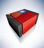 3D flag of Taiwan — Stock Photo