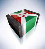 3D flag of Burundi — Stock Photo