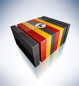 3D flag of Uganda — Stock Photo