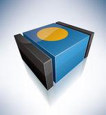 3D flag of Republic of Palau — Stock Photo