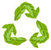白のリサイクル シンボル — ストック写真