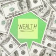 Wealth notation concept — Stock Photo