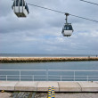 Cable car above the Tejo — Stock Photo