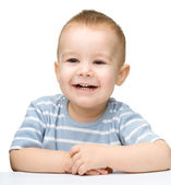 Portrait of a cute cheerful little boy — Stock Photo