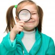 Royalty-Free Stock Photo: Little girl is playing doctor