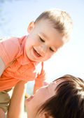 Portrait of a mother with her son — Stock Photo
