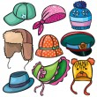 Royalty-Free Stock Vector Image: Headwear set of icons