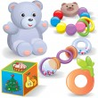 Baby toys set - Stock Vector