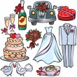 Stock Vector: Wedding Icon Set