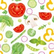 Seamless pattern of vegetables — Stock Vector #9255038