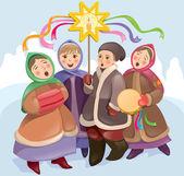 Canciones de navidad — Vector de stock