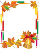 School Autumn Frame — Stock Vector
