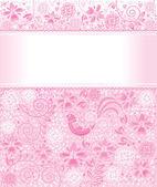 Fundo floral fofo — Vetorial Stock
