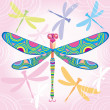 Stock Vector: Decorative dragonfly
