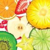 Fruit mix — Stock Vector