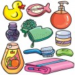 Royalty-Free Stock Vector Image: Bathroom icons set