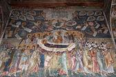Nanebevzetí marie, středověké fresky, staro nagoricane, makedonie — Stock fotografie