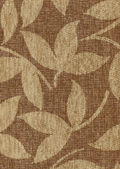 Patterned upholstery texture with leaves — Stock Photo