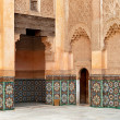 Marrakech madrasah ornament — Stock Photo