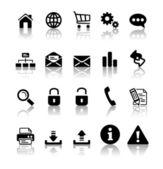 Black icon set — Stock Vector