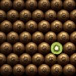 Sliced kiwi between group — Stock Photo #10051529