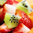 Fruit salad macro - Stock Photo