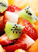Fruit salade macro — Stockfoto