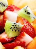 Macro de salada de frutas — Foto Stock