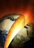 Inside earth explosion — Stock Photo
