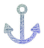 Anchor text clouds — Stock Photo