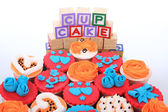 A group of cup cakes — Stock Photo