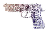 Pistol text clouds concept — Stock Photo