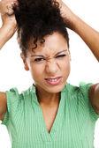 Woman pulling hair — Stock Photo