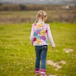 Little girl outdoors — Stock Photo