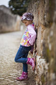 Little girl outdoors — Stock Photo