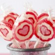 Heart lollipops — Stock Photo