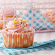 Stock Photo: Pink muffin