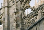 Fragment of Duomo Cathedral in Milan — Stock Photo
