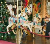 Christmas carousel — Stock Photo