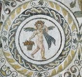Fragment of roman mosaic — Stock Photo