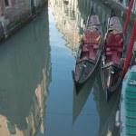 dwie gondole — Zdjęcie stockowe