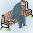 Vector illustration of old man - Stock Vector