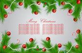 矢量圣诞贺卡 — 图库矢量图片