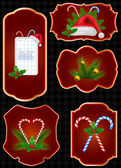 Vector set of Christmas labels — Stock Vector