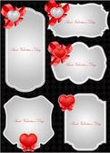 Karty z pozdrowieniami valentine wektor — Wektor stockowy